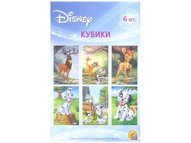 Кубики 6шт., пластиковые, Disney-3, в коробке, Рыжий кот