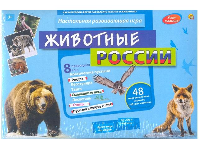 Настольная развивающая игра Учим малыша, Животные России, в коробке, Рыжий кот