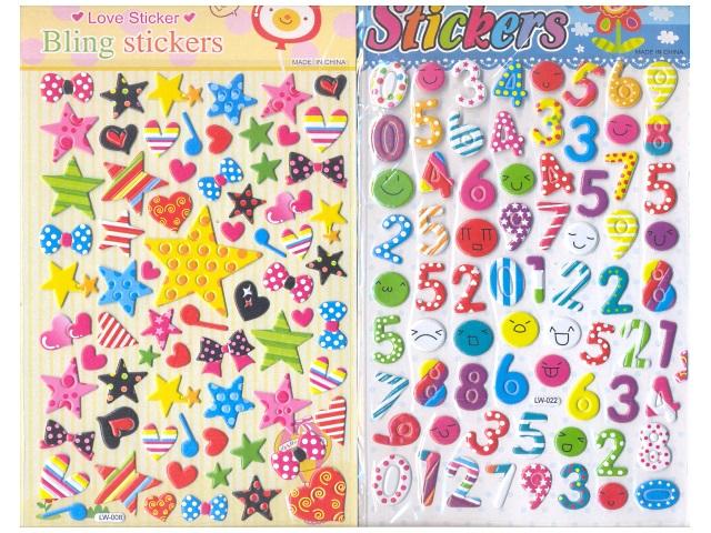 Наклейки детские объемные пластиковые Смайлы 14*20 см, Josef Otten 5587
