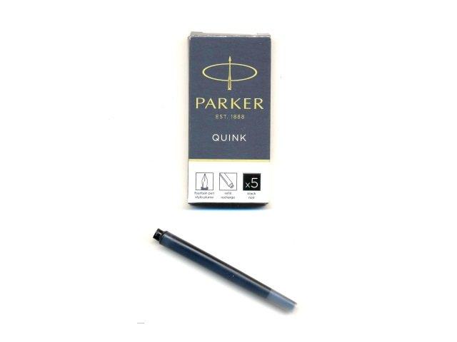 Набор капсул 5 шт. черные, Quink, Parker 1950382