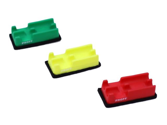 Губка для досок, 5.5*12 см, с держателем для маркеров, войлочная, Proff