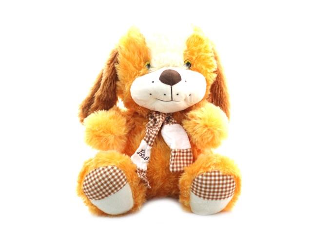 Мягкая игрушка, Собака с шарфом, 56*56см., музыкальная, Angel Toys