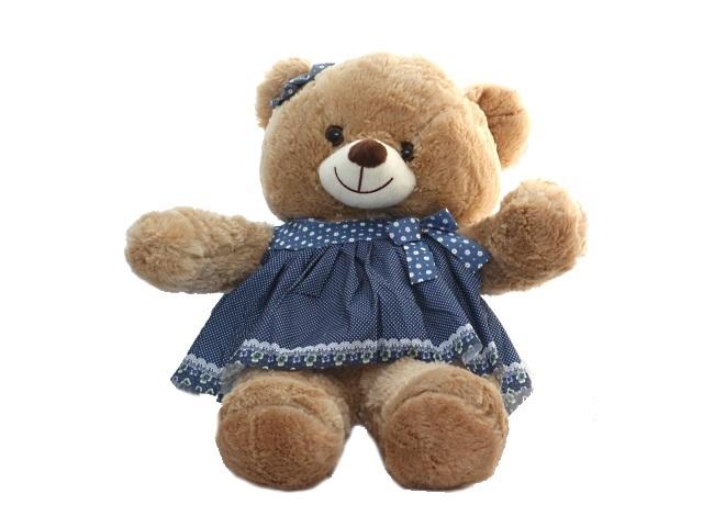 Мягкая игрушка, Мишка в платье, 55*50см., музыкальный, Magic Bear Toys