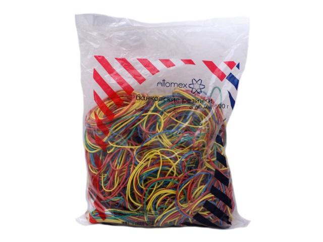 Резинки для денег 500 г, цветные в пакете, Attomex 4152304