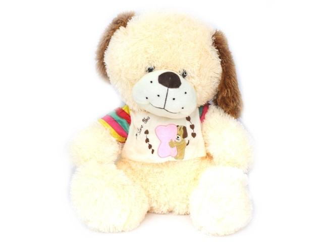 Мягкая игрушка, Животные, в ассортименте (Медведь, Заяц, Собака), 45*47см., музыкальная, Angel Toys
