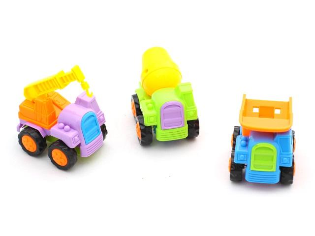 Машина инерционная, пластиковая, Строительная техника, Cartoon