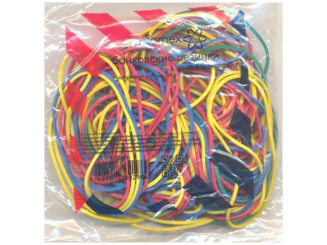 Резинки для денег 50 г, цветные, в пакете, Attomex