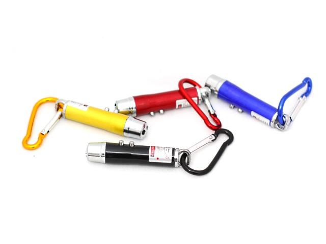 Брелок-фонарик с лазером, 2 диода, ультрафиолет, арт. 117 JD-88