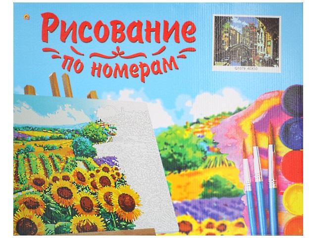 Картина по номерам, холст на подрамнике 40*50 см, в наборе кисти и акриловые краски, Венецианский мост, Рыжий кот
