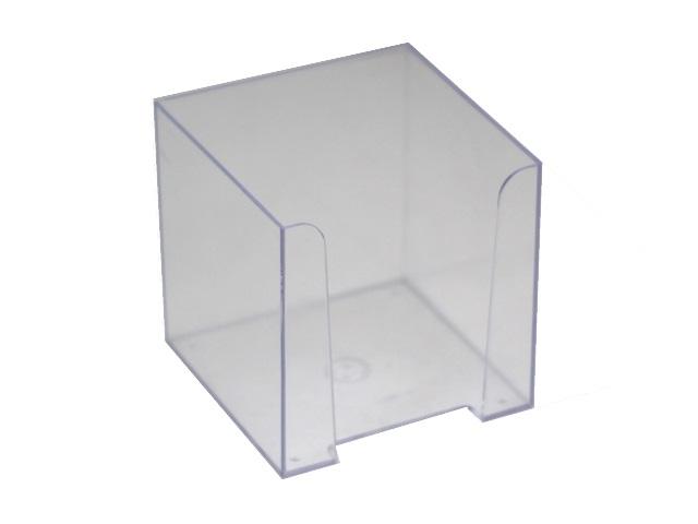 Бокс для бумаг, 9*9*9 см, пластиковый, прозрачный, Стамм