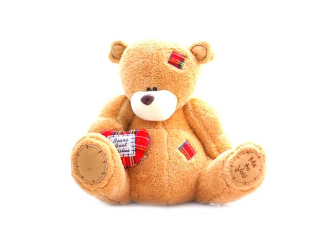 Мягкая игрушка, Медведь с сердцем, 35*30см., Angel Toys