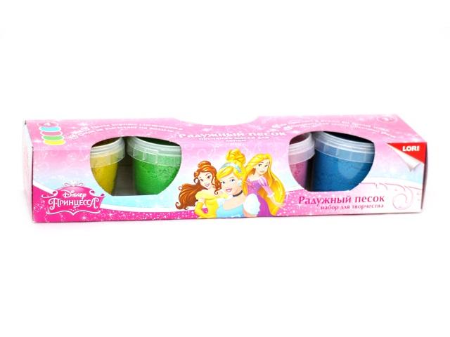 Набор Радужный песок, Disney Принцессы, 4 цвета, 1 формочка, в коробке, Lori Птд-001
