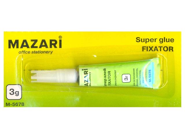 Клей супер 3 г Fixator, Mazari М-5678М-5678