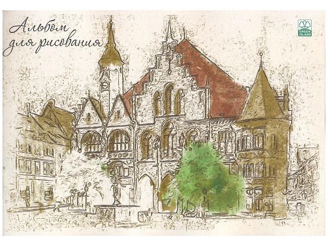 Альбом для рисования 40 листов А4 на скобах Дом, Академия Групп ЕАС-8767