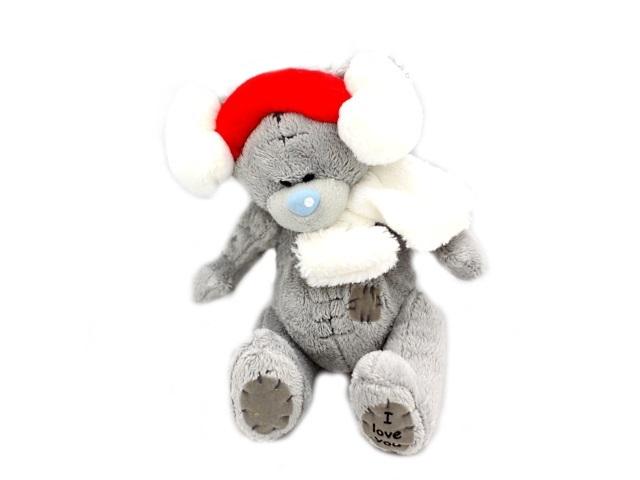 Мягкая игрушка, Медведь Тедди в наушниках, 20*15см.