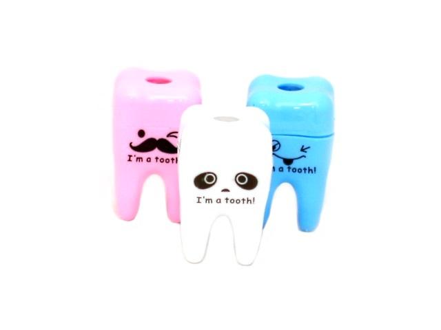 Точилка пластиковая с контейнером Зубы, в банке, Mazari М-6660