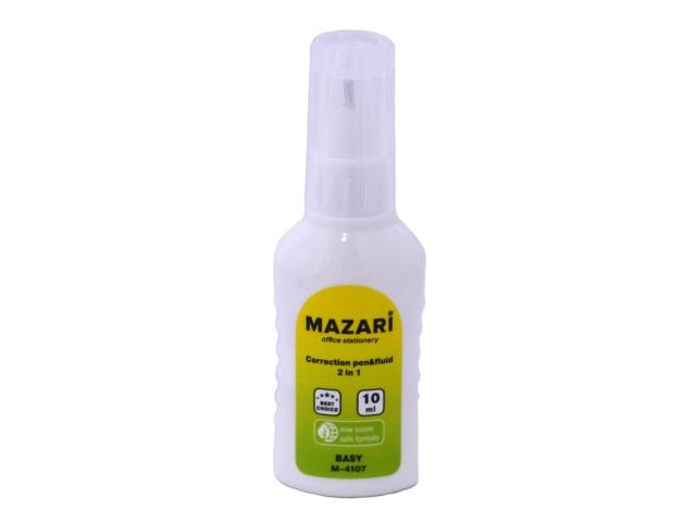 Корректор 2 в 1 кисточка и ручка 10 мл на спиртовой основе, Mazari М-4107