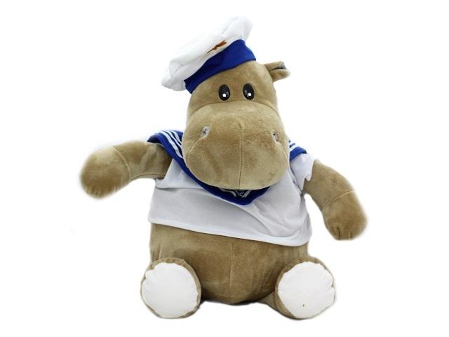 Мягкая игрушка, Бегемот моряк, 40*30см., Good Toys