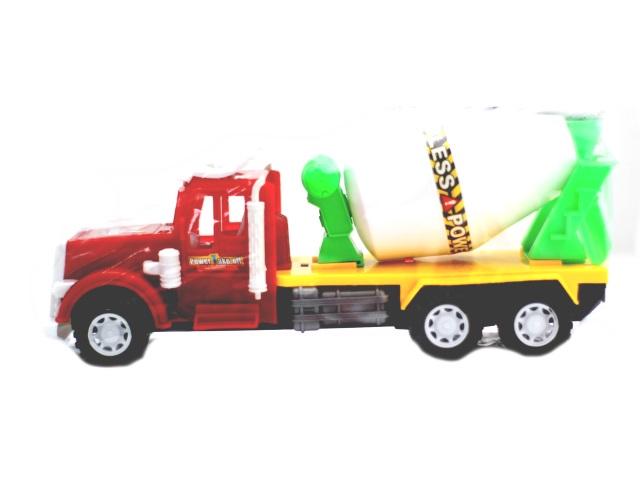 Машина инерционная, пластиковая, Бетономешалка, в пакете, Qinzhengyuan