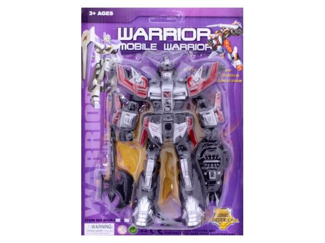Трансформер пластиковый, Warrior, блистер