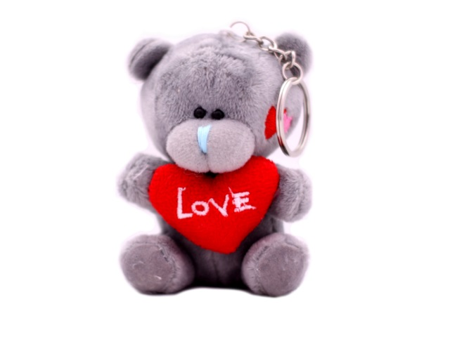 Мягкая игрушка, Медведь Тедди, с сердцем, 7*4см., брелок.
