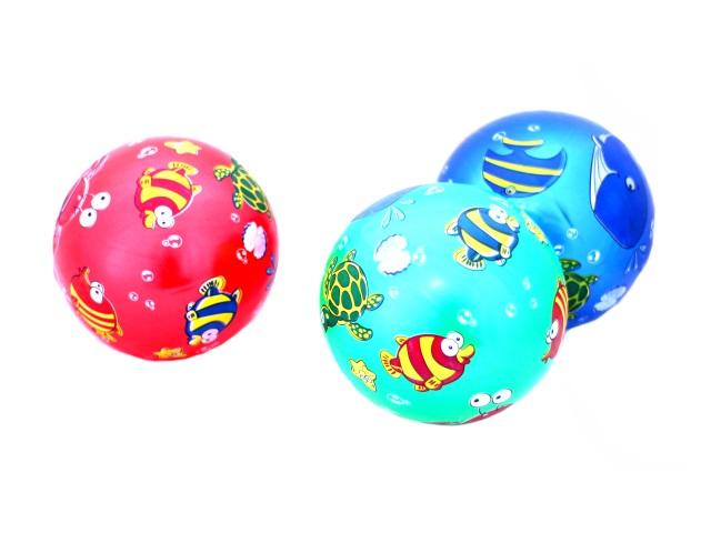 Мяч детский, резиновый, 20см., однотонный, с рисунком