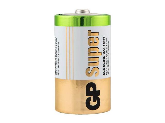 Батарейка LR20 1.5V щелочная, Super GP