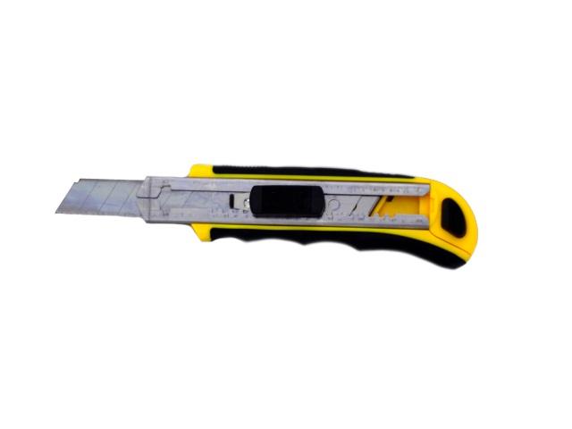 Нож канцелярский 18 мм + 5 лезвий, блистер, Macao 886