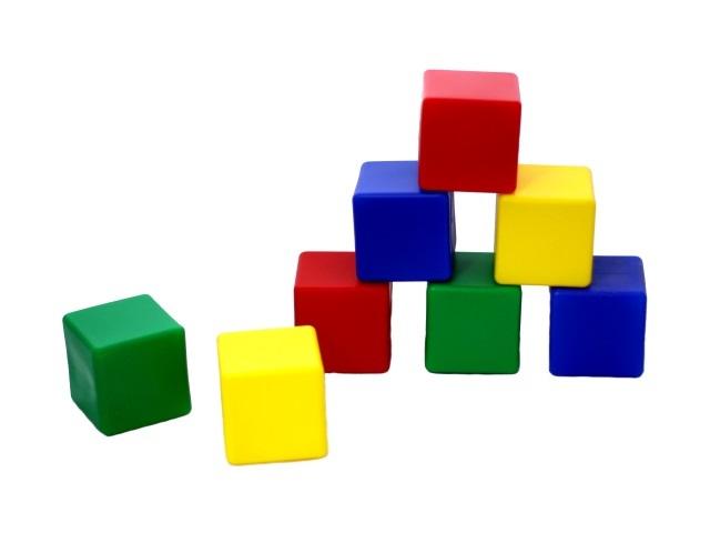 Кубики 24шт., пластиковые, цветные, Рыжий кот