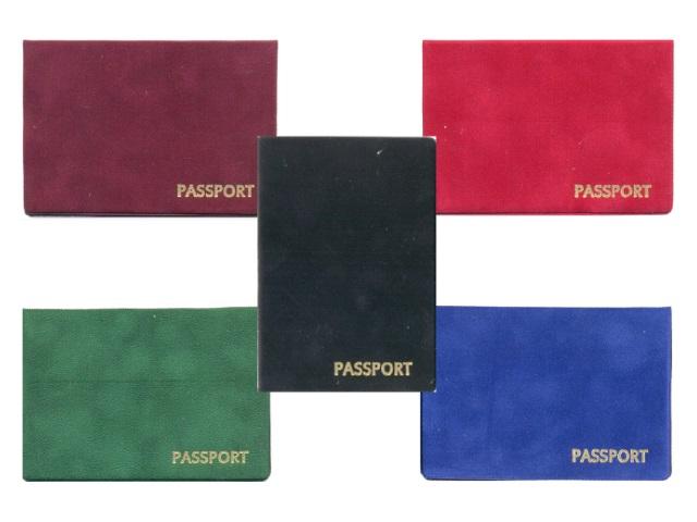 Обложка для паспорта, флок, цвета ассорти, Имидж