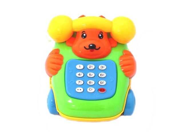 Телефон, музыкальный, пластиковый, Cute, в пакете