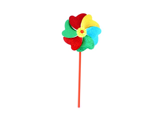Ветрячок пластиковый, Цветочек-4, цвета ассорти, в пакете