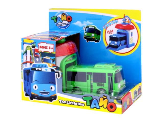 Автобус пластиковый, с гаражом, Тайо, в коробке