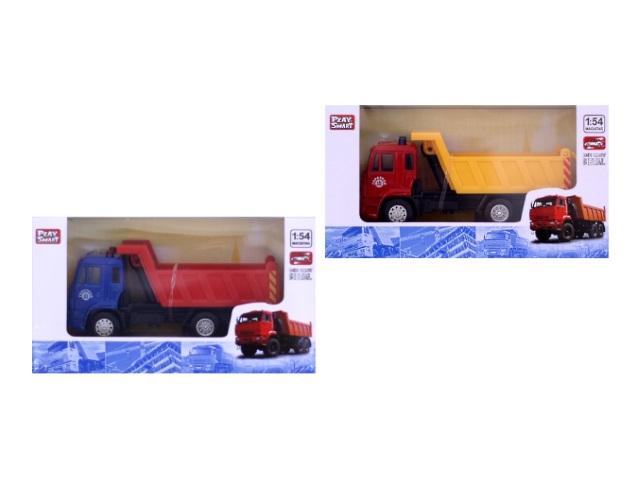 Машина инерционная, металлическая, Строительная техника, Автопарк, в коробке, Play Smart