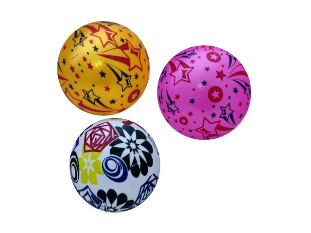 Мяч детский, резиновый, 23см., однотонный, с рисунком