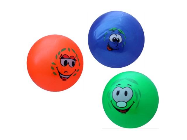 Мяч детский, резиновый, 27см., однотонный, с рисунком