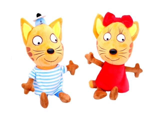 Мягкая игрушка, Три кота, 27 см, на присоске