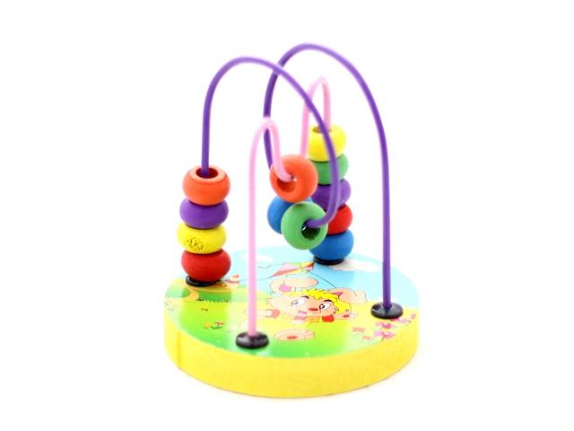 Деревянная развивающая игрушка, Лабиринт, Mini Wire Maze, в коробке