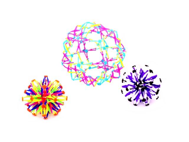 Шар-трансформер, пластиковый, цвета ассорти, Сфера, в пакете