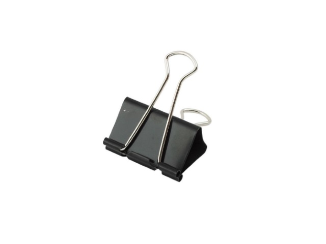 Биндер 19 мм металлический черный, Attomex 4131301