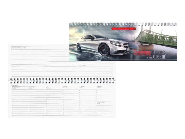 Планинг не датированный, 56 листов, мягкая обложка, Автомобиль и мост, Prof Press