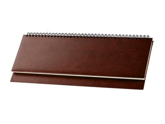 Планинг не датированный, 56 листов, бумвинил, коричневый, Prof Press
