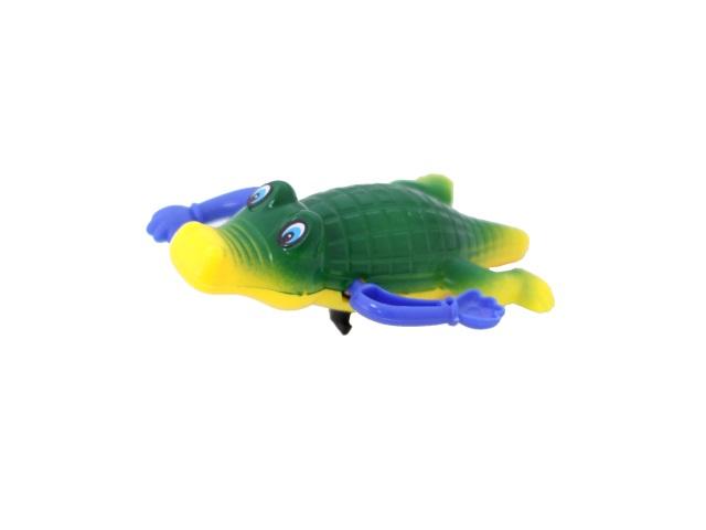 Заводная водоплавающая игрушка Крокодил в пакете, Tongde, арт. 9901