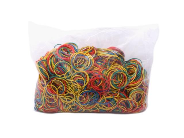 Резинки для денег 1000гр., цветные, в пакете, Mazari