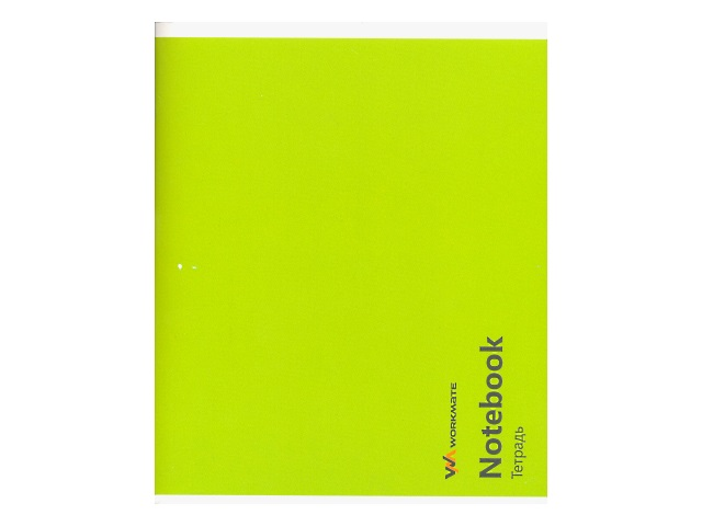 Тетрадь в клетку 96 листов однотонная обложка, цвета в ассортименте, Workmate 002003100