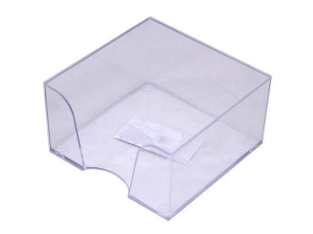 Бокс для бумаг, 9*9*5 см, пластиковый, прозрачный, Workmate
