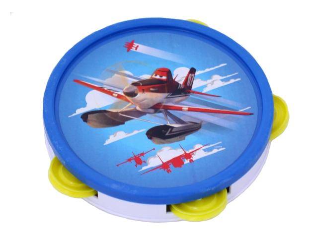 Бубен пластиковый, Самолеты-6, в пакете, Рыжий кот