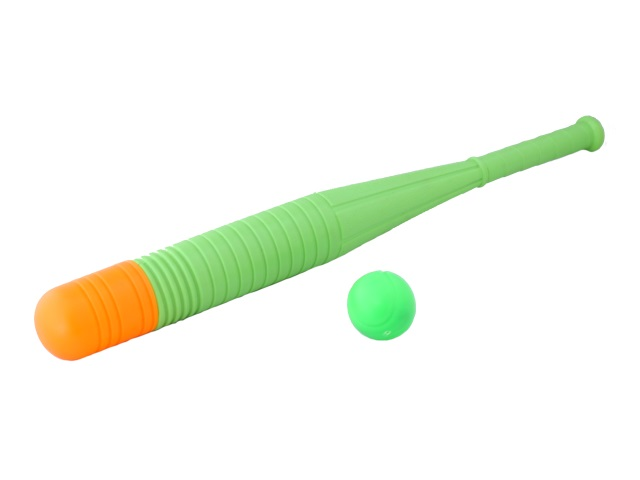 Игровой набор Бейсбол, 2 предмета (бита - 1 шт., мячик - 1 шт.), пластиковый
