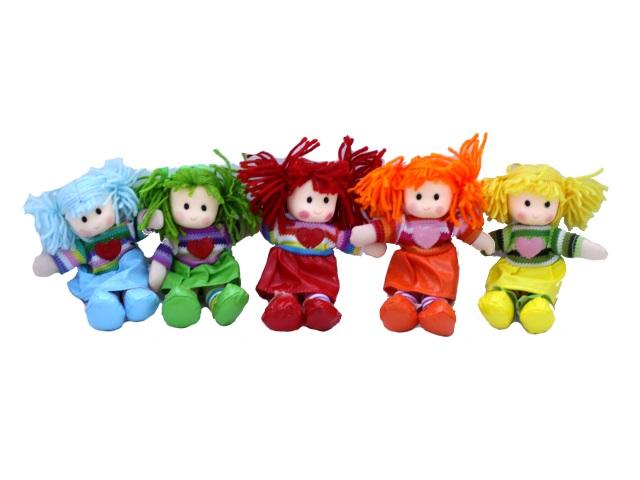 Мягкая игрушка, Кукла, 20 см, на присоске