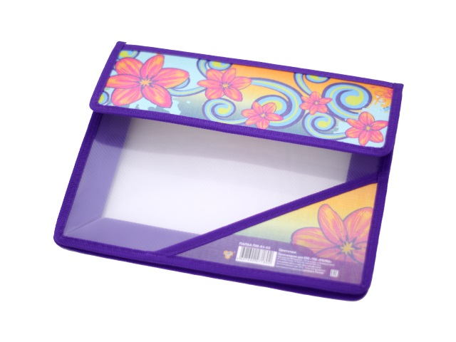 Папка для тетрадей на липучке, А5, пластиковая, Цветочек, Пчелка